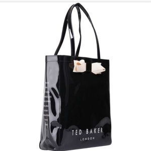 Ted baker black bow icon bag